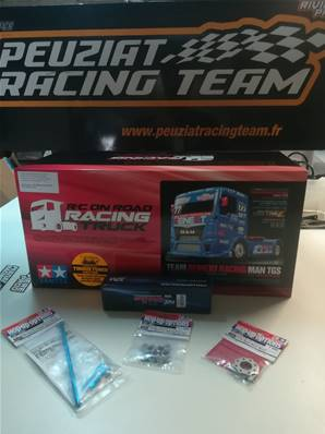 PACKAGE CAMION RC MAN TGS REINERT RACING CLUBS PARTENAIRES (3 options + LIPO)