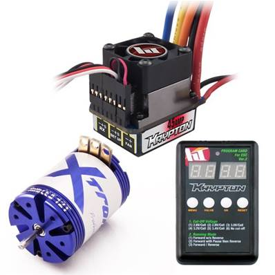 combo 1/10 brushless Krypton par Hobbytech 45A +moteur 13.5