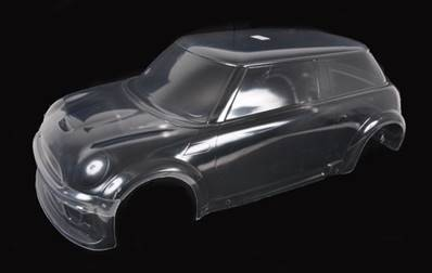 SET COMPLET CARROSSERIE MINI-COOPER TRANSPARENTE